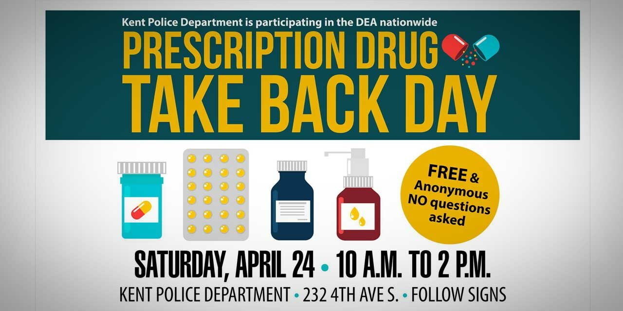 REMINDER: Drug Take Back Day will be Saturday outside Kent Police HQ