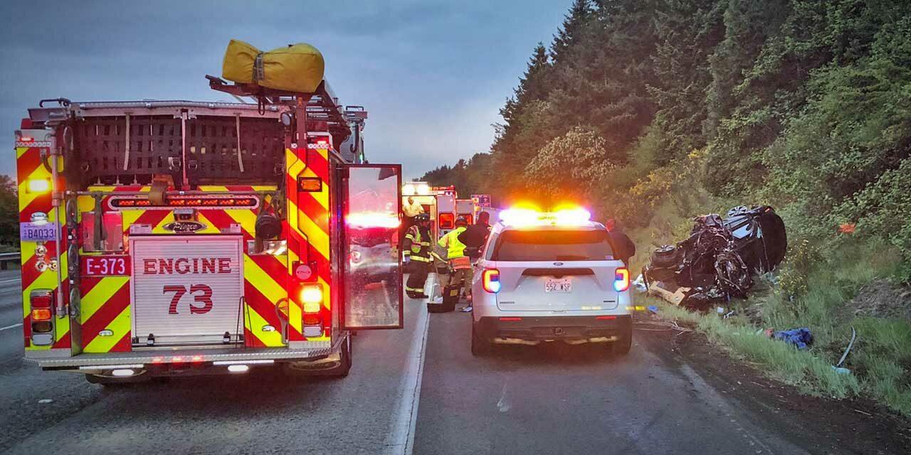 Two-vehicle serious injury wreck on I-5 in Kent sends one to Harborview Thursday morning