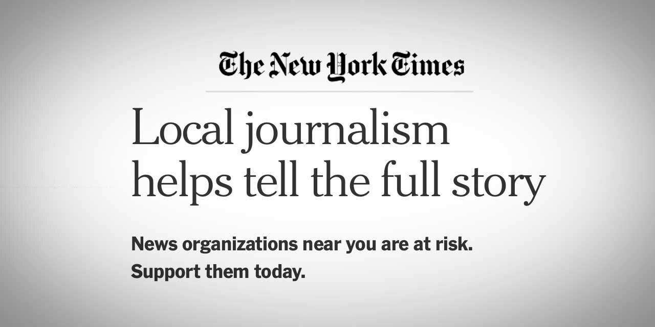 Help support local Journalism on World Press Freedom Day