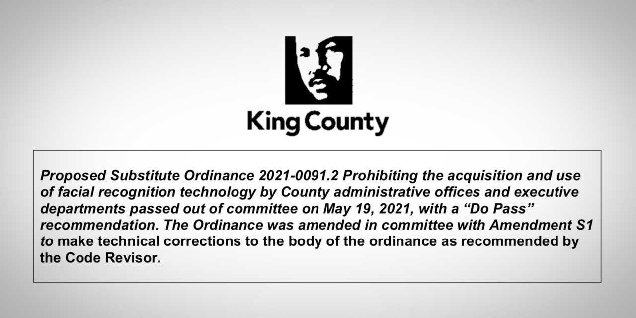 Facial recognition technology ban passed by King County Council