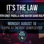 Mayor, Police Chief will discuss new police legislation at Aug. 16 meeting