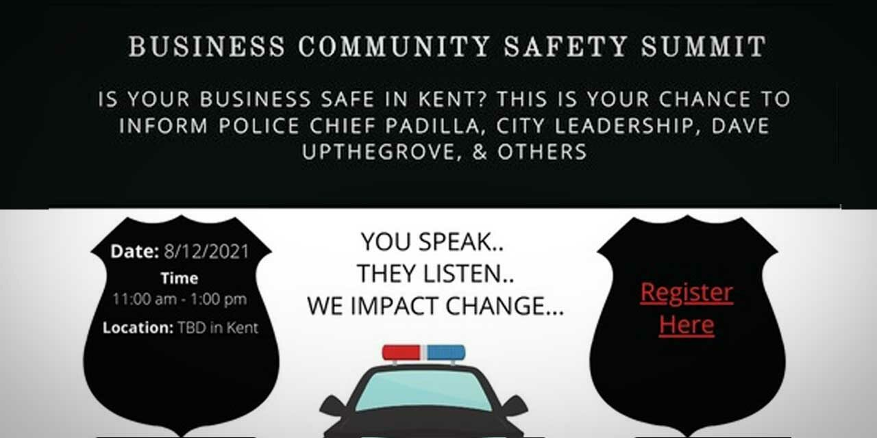 Here's how to watch Wednesday's livestream of the Kent Chamber's Business Community Safety Summit