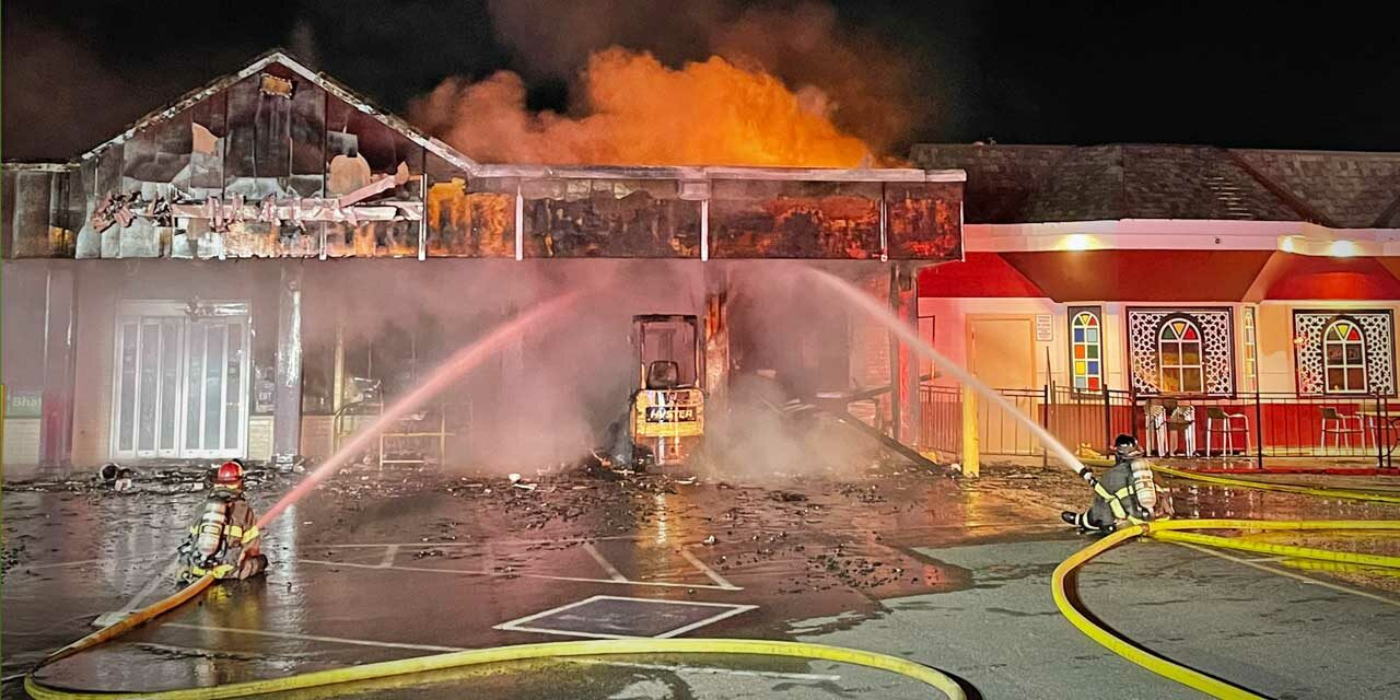 Fireworks cause fire that burns Kent convenience store Tuesday morning