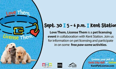 'Love Them, License Them' pet licensing event will be Thurs., Sept. 30 at Kent Station