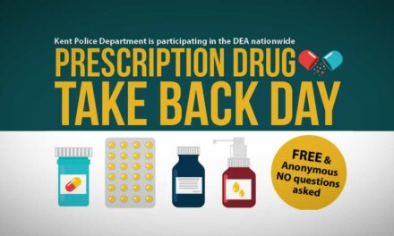 Kent Police's Drug Takeback Day will be Saturday, Oct. 23